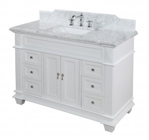 And 48 White Bathroom Vanity
